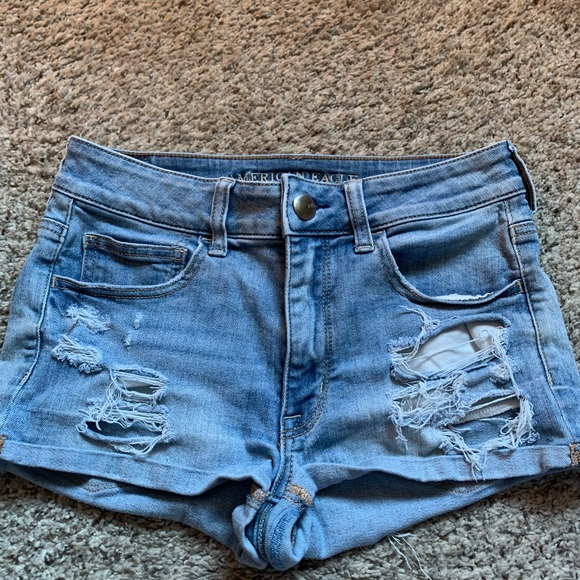 American Eagle Jean Shorts Light Wash